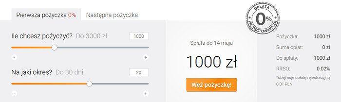 Kalkulator viasms 1000 zł